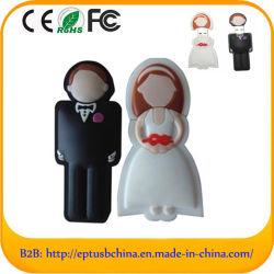 Kundenspezifische Feder-Laufwerk-Hochzeits-Geschenk USB-Flash-Speicher-Platten (Z.B. 024)