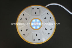 New Arrivals UFO Shape Universal Power Extension Socket com 6 Way Jack e 2 USB