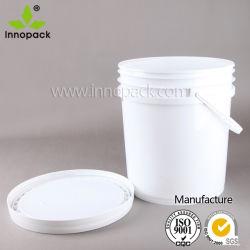 5 benna di plastica della vernice di gallone 20L per il rivestimento, polvere del calcare