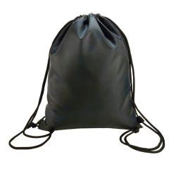 La polvere nera impaccante del sacchetto del grande Drawstring respirabile stampata marchio su ordinazione copre il sacchetto di memoria del pattino del cappello per la borsa