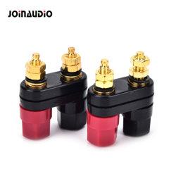Fiches bananes de bornes de connecteur noir du couple de la borne rouge amplificateur Post (6001-1) de liaison