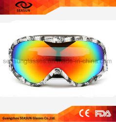 Anti-Fog UV400 schützen Rahmen-Bewegungsstrahlen-Ski-Schutzbrille-Wasser-Ski-Fahrrad-Schutzbrillen des PC Objektiv-TPU