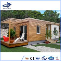 贅沢なプレハブモジュラー移動式プレハブの木の生きている携帯用Shipingの鋼鉄贅沢で小さく移動可能なオフィスの容器の家