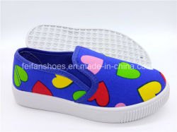 Les enfants Slip-on chaussures chaussures en toile chaussures occasionnel d'injection (ZL1017-15)
