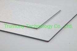 3mm 4mm 실버 브러시 내부 및 외부 벽 클래딩 HTB 광고 보드 ACP 패널 알루미늄 합성 소재 디자인