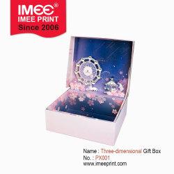 На складе Imee пользовательский дизайн OEM ODM 29*21*10см горячей штамповки пленки 250g бумага с покрытием серого цвета на системной плате пробит внутренний Подарочная упаковка