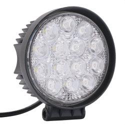 مصباح العمل LED مقاس 4,4 بوصات، مقاومة للماء، بقوة 42 واط، إضاءة غامرة على الطرق الوعرة مصباح LED دائري لمركبة شاحنة السيارات ATV