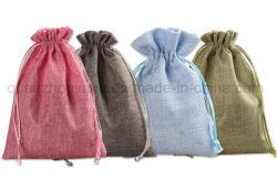 Le Linge de Maison Cadeaux colorés de stockage OEM Sac avec lacet de serrage