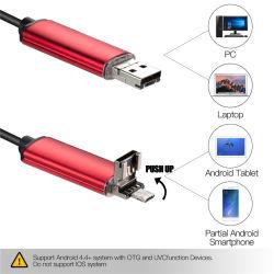 2 in 1 Buis van de Slang van de Endoscoop USB en Androïde Borescope USB Micro- van de Inspectie Endoscopio Camera voor de Slimme Telefoon van PC