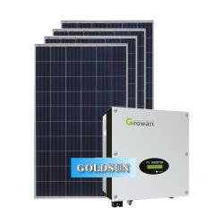 Prix de gros de la grille du système solaire lié les systèmes de l'énergie solaire Système de panneaux solaires de 5kw