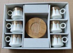 Novo Osso China 90cc Chá Pires xícara de café 12Conjunto de PCS