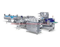 Confezionamento orizzontale automatico confezionamento confezionamento linea macchine macchine con interno Alimentazione di contenitori e prodotti