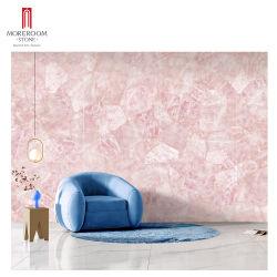 Rosa Quartz Rosa Crystal Grande porcelana de mármore sinterizado pedra parede Ladrilho