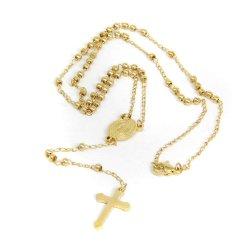 الصليب الأحمر الوردي عقد ديني للرجال الرجال 24 بوصة مجوهرات أزياء من الفولاذ المقاوم للصدأ