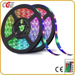 Светодиодный индикатор газа лампа 5m SMD 5050 Водонепроницаемый светодиодный RGB газа 60 светодиодов/M DC12V гибкий светодиодный индикатор строки лента ленту дома декор лампа