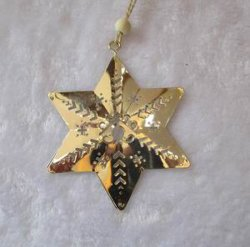 la stella del metallo di 20.5*9cm per la decorazione domestica fornisce i regali del mestiere dell'ornamento di natale