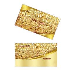 شعار التصميم المخصص لشركة OEM منقوش على بطاقات العمل المعدنية