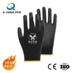 EN388 4131X 13G Polyester Liner PU-beschichtet Arbeitsschutz Industrielle Handhandschuhe mit CE