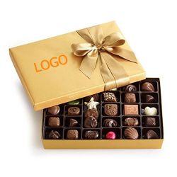 طباعة بالجملة مخصص الفاخرة بطاقات العلب الذهب البني مربع فن ورقة هدية صندوق تخزين بسكويت كوكي الشوكولاته وجبة خفيفة حلوى مواد غذائية مخبوزة