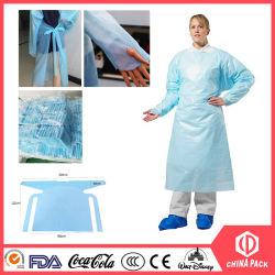 Vestuário impermeável à prova de pó de vestuário PEVA CPE Solation Bata