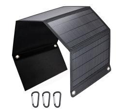Sonnenenergie-flexible faltende Sonnenkollektor-Aufladeeinheit der Fabrik-im Freien Sonnenenergie-Bank-28W