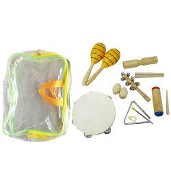 Educação Aiersi instrumento musical brinquedo percussão agitadores ovo triângulo com o batedor e Maracas para venda