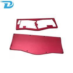 Настраиваемые фрезерного ЧПУ обработанной алюминия с красочными из анодированного алюминия CNC обработки деталей механических деталей клавиатуры
