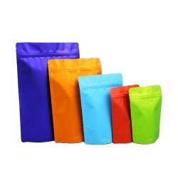 Personalizar Cores grossista de folha de alumínio preto em ambientes Ziplock sacos de embalagem para produtos eletrônicos