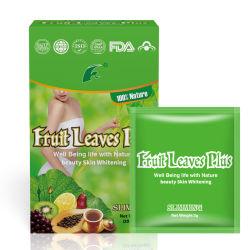 Frucht-Blätter plus den diätetischen Ergänzungs-Gewicht-Verlust-Kräutertee, der Tee für Schönheit abnimmt