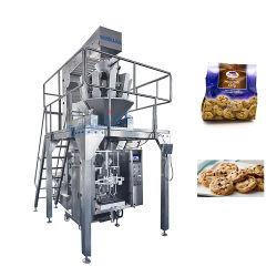 Автоматическое вертикальное Vffs форме пленки и уплотнение гранул закуски зерна о ходе работы выводится Multihead весом упаковочные машины,печенье Cookie картофеля чип шоколад упаковки машины