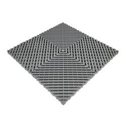 Ultra durável e estável UV, plástico resistente ao impacto do intertravamento de azulejos do piso de borracha