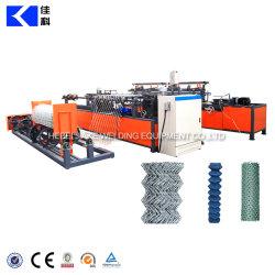 Malla Diamante automática Máquina de cercado de cadenas de cable ciclón
