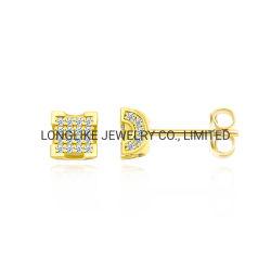 新しいデザイン方法宝石類925の純銀製または真鍮18K金の女性のための立方ジルコニアのイヤリング