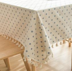 Diseño de espiga 10%90%Algodón Mantel de lino para la boda Home