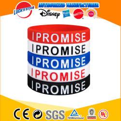 Preiswertes kundenspezifisches Armband Silikonwristband-Form Soem-Debossed für Reklameanzeige