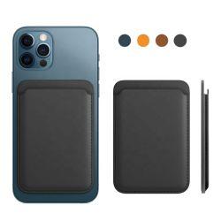 인기 있는 맞춤형 Magsafe PU ID 카드 홀더 프리미엄 가죽 셀 iPhone 12용 전화 케이스 하우징 커버