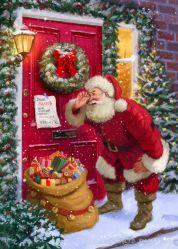 عيد ميلاد جديد [سنتا كلوس] يعطون هدايا ماس لوحات ل مهرجان عيد الميلاد للهدايا