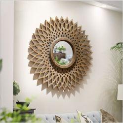 Деревянные стены наружного зеркала заднего вида искусства для использования внутри помещений и оформление