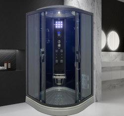 100X100 стеклянная душевая кабина массажный душ с складные сиденья