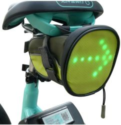 FCAR 反射ターンシグナル方向指示灯 LED サイクリングサドルバッグ
