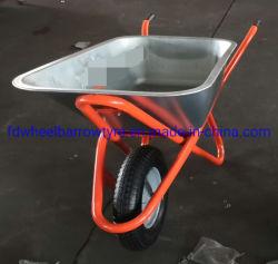Rueda neumática galvanizado Barrow con rueda de goma para el mercado de Rusia, WB6418