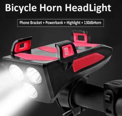 Держатель телефона на велосипеде с переднего освещения 4000Мач Банка питания телефона на велосипеде кронштейна для iPhone