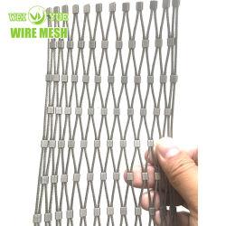 Edelstahl-Drahtseil-Kabel quetschverbundenes Ineinander greifen für Kran-Flut-Licht-Fall-Schutz-Netze