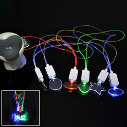 Linli сторона выступает за музыку и звуковые сигналы датчика пластиковые ожерелье с светодиод мигает