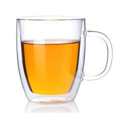 ダブルウォールガラスコーヒーマグプロモーションギフトコーヒーカップ Pyrex ガラスのコーヒーカップ