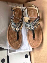 Small Slope Heel 2020 36-41Plastic Diamond Jewellery Scarpe usate Ladies Sandali