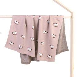 Подключаемые модули для новорожденных хлопок пружинный осенью лошадь трикотаж детское одеяло