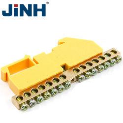 Trilho DIN Compacto Universal o Conector do Fio do bloco de terminais