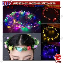 Lower Crown Light Up Headwams Party Garland اكليل الزهور LED الشعر ملابس رأس للزفاف (P2035)