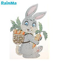 중국 공장에서 제작한 아름다운 Rabbit Diamond 그림 5D가 수락했습니다 맞춤형 다이아몬드 스티커